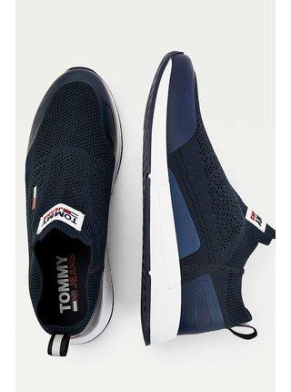 Tommy Hilfiger modré pánske tenisky Tommy Jeans Flexi Sock Runner