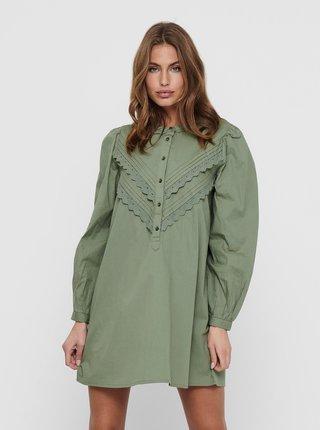 Zelené košilové šaty Jacqueline de Yong Mumbai