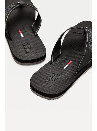 Tommy Hilfiger čierne pánske žabky Comfort Footbed Beach Sandal