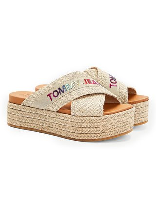 Tommy Hilfiger pantofle na platformě Rainbow Branding Mule Flatform