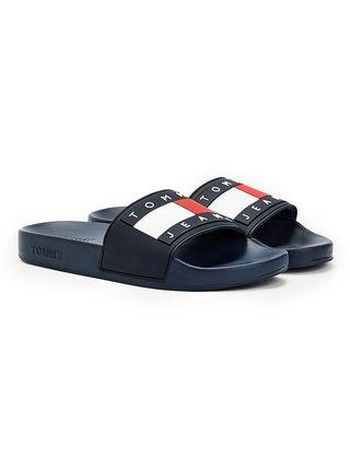 Tommy Hilfiger modré šľapky Tommy Jeans Flag Pool Slide