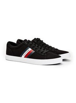 Tommy Hilfiger čierne pánske tenisky Essential Stripes Detail Sneaker