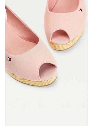 Tommy Hilfiger pudrové boty na klínku Iconic Elena Back Wedge