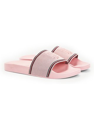 Tommy Hilfiger pudrové pantofle Knitted Pool Slide