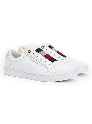 Tommy Hilfiger bílé tenisky Elastic Slip on Sneaker