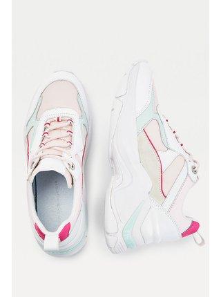 Tommy Hilfiger biele kožené tenisky Fashion Wedge Sneaker