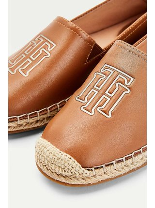 Tommy Hilfiger karamelové kožené espadrilky Feminine Leather Espadrille