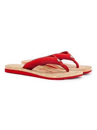 Tommy Hilfiger červené žabky Gradient Tommy Beach Sandal