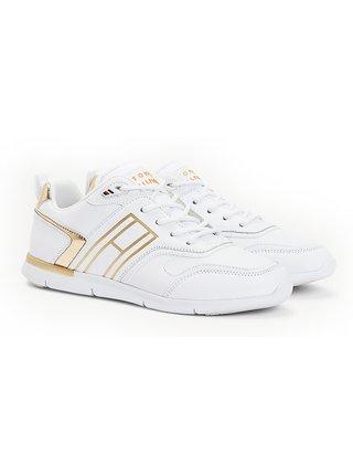 Tommy Hilfiger biele tenisky Metallic Lightweight Sneaker
