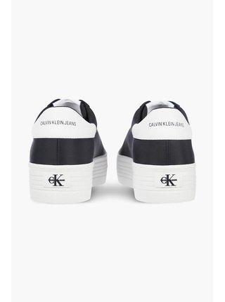 Calvin Klein čierne tenisky na platforme Vulcanized Flatform Laceup
