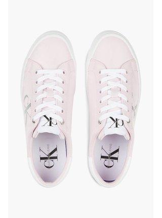 Calvin Klein ružové tenisky na platforme Vulcanized Flatform Laceup