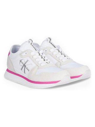 Calvin Klein biele tenisky Runner Sock Laceup
