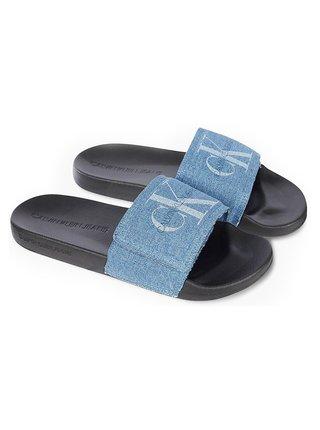 Calvin Klein šľapky Slide Velcro Denim
