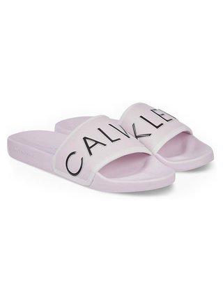 Calvin Klein ružové šľapky Slide Padded
