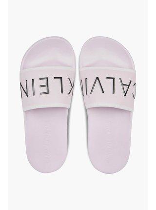 Calvin Klein růžové pantofle Slide Padded
