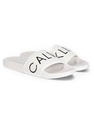 Calvin Klein biele šľapky Slide Padded