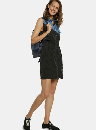Desigual černé šaty Vest Sidney