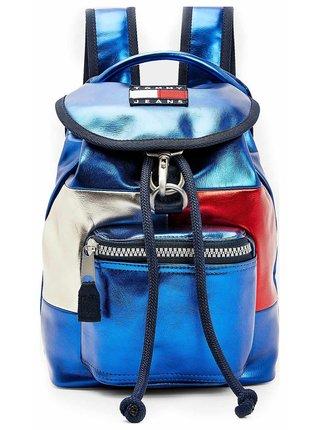 Tommy Hilfiger modré ruksak TJW Heritage SM Flap BPack Met Gulf Coast Blue
