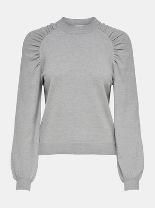Svetlošedý sveter Jacqueline de Yong Kourtney