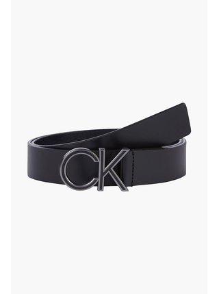 Calvin Klein černý pánský kožený pásek CK Enamel