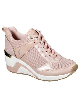 Skechers púdrové tenisky na platforme Million Air Up There Light Pink