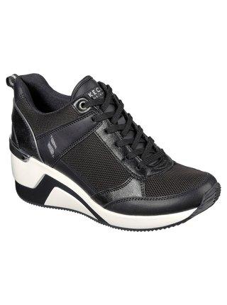 Skechers čierne tenisky na platforme Million Air Up There Black