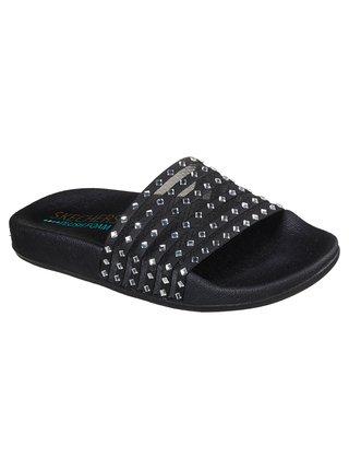 Skechers černé pantofle Pop Ups Black Mesh