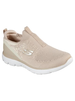 Skechers béžové slip on tenisky Summits Daily Flourish Natural