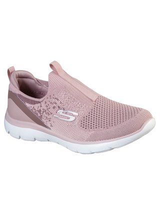 Skechers pudrové slip on tenisky Summits Daily Flourish Mauve