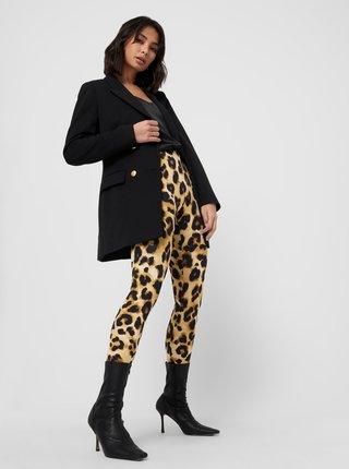 Hnědé legíny s leopardím vzorem Jacqueline de Yong Shawn