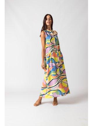 SKFK barevné maxi šaty Metxe