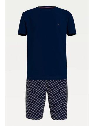 Tommy Hilfiger modré pánské pyžamo CN SS Short Jersey