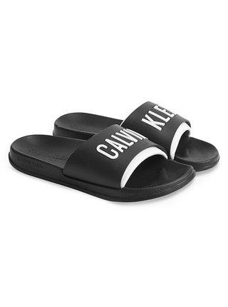 Calvin Klein čierne unisex šľapky Slide