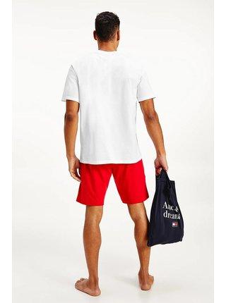 Tommy Hilfiger červeno-biele pánske pyžamo PJ in a Bag