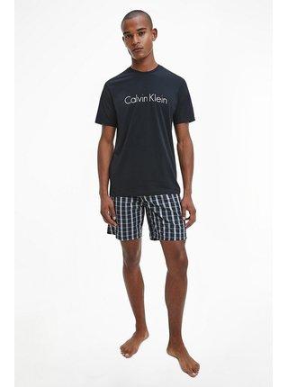 Calvin Klein černé pánské pyžamo S/S Short Set