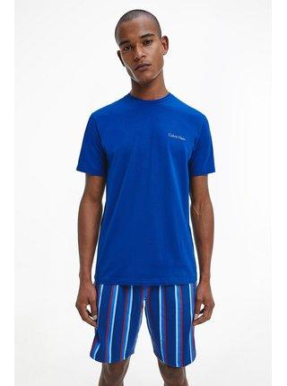 Calvin Klein modré pánské pyžamo S/S Short Set