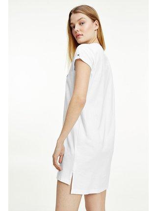 Tommy Hilfiger biela nočná košeľa SS Dress s logom