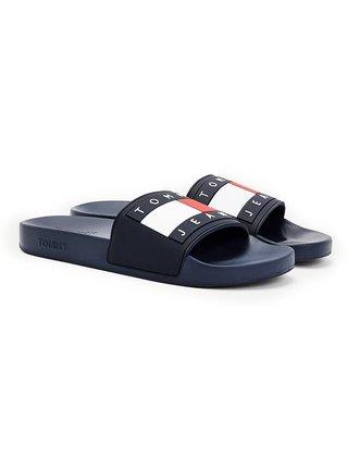 Tommy Hilfiger černé pánské pantofle Tommy Jeans Flag Pool Slide