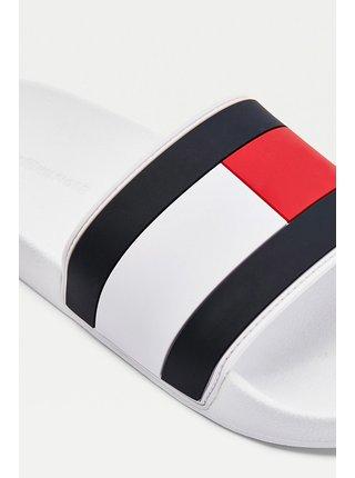 Tommy Hilfiger biele pánske šľapky Essential Flag Pool Slide