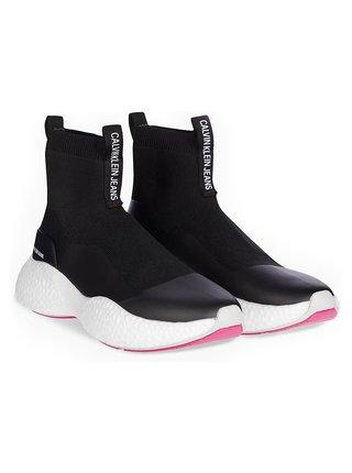 Calvin Klein čierne ponožkové tenisky Runner Sneaker Sock Knit