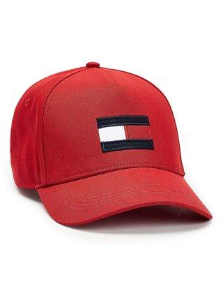 Tommy Hilfiger červená kšiltovka Big Flag Cap