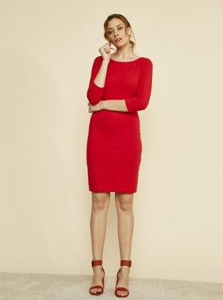 Červené púzdrové basic šaty ZOOT Baseline Polli