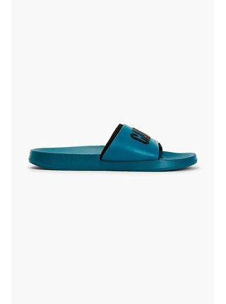 Calvin Klein zeleno-modré unisex pantofle Slide