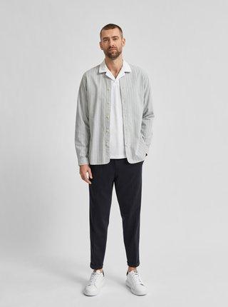 Svetlošedá pruhovaná košeľa Selected Homme Milton