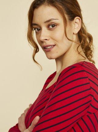 Červené dámske pruhované tričko ZOOT Karin
