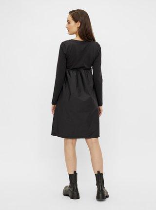Čierne tehotenské šaty so zaväzovaním Mama.licious Carolina