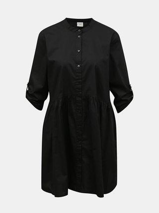 Čierne košeľové šaty Jacqueline de Yong Cameron