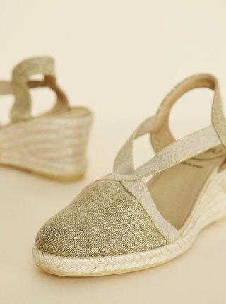 Sandálky v zlatej farbe OJJU