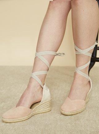 Růžové kožené sandálky OJJU