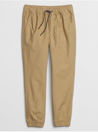 Béžové klučičí dětské kalhoty v-td eday jogger